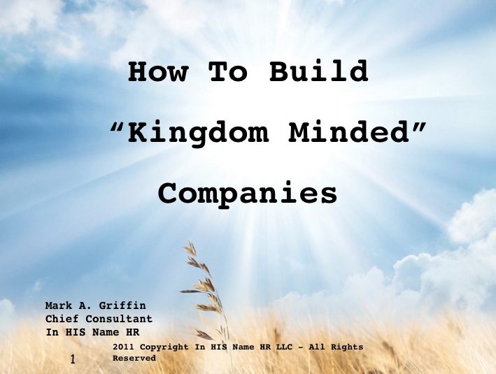 "Build ""Kingdom Minded"" Companies width="