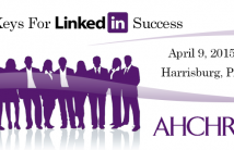 8 Keys For LinkedIn Success Appalachian Healthcare Human Resources Society