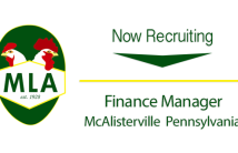 Now Recruiting Finance Manager McAlisterville PA