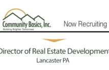 Now Recruiting For:  Director of Real Estate Development Lancaster, PA
