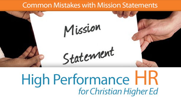 Common Mistakes with Mission Statements