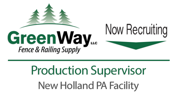 Now Recruiting Production Supervisor Lancaster PA