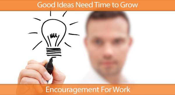 Good Ideas Need Time to Grow